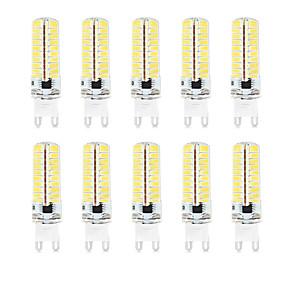 abordables Luces LED de Doble Pin-HKV 10pcs 4.5 W Luces LED de Doble Pin 350-450 lm G9 T 72 Cuentas LED SMD 2835 Impermeable Regulable Decorativa Blanco Cálido Blanco Fresco Blanco Natural 220-240 V 110-130 V / 10 piezas / Cañas
