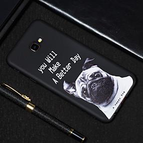 voordelige Galaxy J7(2017) Hoesjes / covers-hoesje Voor Samsung Galaxy J7 Prime / J7 (2017) / J5 Prime Mat / Patroon Achterkant Hond Zacht TPU