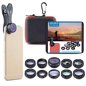 billige Kamera til mobiltelefon-Mobiltelefon Lens Objektiv med filter / Fisheyelinse / Objektiv med lang brennvidde glass / Aluminiumslegering 2X 20 mm 15 m 198 ° Søtt / Kul