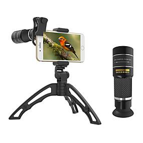 Недорогие Камера мобильного телефона-Объектив для мобильного телефона Длиннофокусный объектив стекло 10Х и более 32 mm 3 m 9.8 ° Линза / объектив со стендом