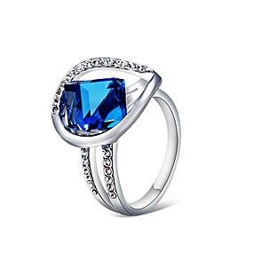 billige Smykker & Ure-Dame Blå Krystal Ring Simuleret diamant Kunstnerisk Trendy Mode Moderinge Smykker Sølv Til Fest Ferie Natklub 6 / 7 / 8 / 9