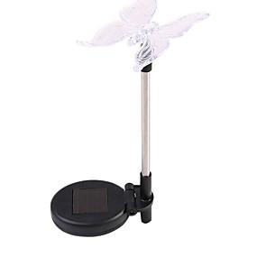 ieftine Lumini Nocturne LED-3pcs color-schimbare condus grădină solare lumină în aer liber impermeabil fluture solare a condus pentru lampă de gradina lampă calea de decorare