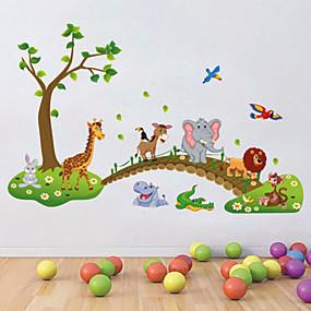 povoljno Ukrasne naljepnice-Dekorativne zidne naljepnice - Zidne naljepnice / Naljepnice za zidne zidove Životinje / Cvjetni / Botanički Dječja soba