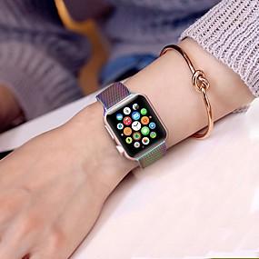 Недорогие СКИДКА 70% и более-Ремешок для часов для Apple Watch Series 4/3/2/1 Apple Миланский ремешок Нержавеющая сталь Повязка на запястье