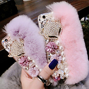 abordables Coques d'iPhone-Coque Pour Apple iPhone XS Max / iPhone 6 Strass / A Faire Soi-Même Coque Animal Flexible Textile pour iPhone XS / iPhone XR / iPhone XS Max