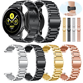 cheap Watch Bands for Samsung-Watch Band for Gear S2 / Samsung Galaxy Watch 42 / Samsung Galaxy Active Samsung Galaxy Classic Buckle Metal / Stainless Steel Wrist Strap