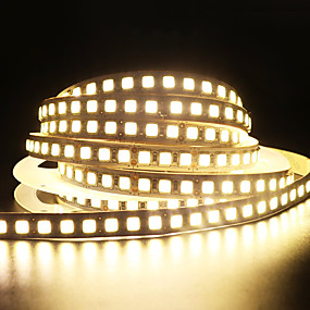 ieftine Benzi Lumină LED-zdm 1pc 8,2ft 2,5m smd 5054 nu-impermeabil 300leds banda de benzi lumina panglica lumina led lumina dc 12v 25w