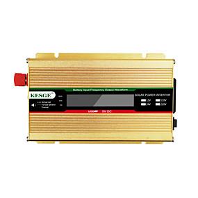 economico Inverter di alimentazione del veicolo-kesge 500w auto power inverter dc12 / 24-ac220v / 110 v con display lcd uso domestico mini inverter