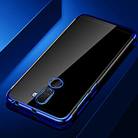 voordelige Huawei Honor hoesjes / covers-hoesje Voor Huawei Huawei Honor 10 / Honor 10 Lite / Honor 9 Beplating / Transparant Achterkant Transparant Zacht TPU