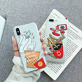 abordables Coques d'iPhone-CISIC Coque Pour Apple iPhone X / iPhone XR Transparente / Motif Coque Transparente / Bande dessinée Flexible TPU / PC pour iPhone XS / iPhone XR / iPhone XS Max