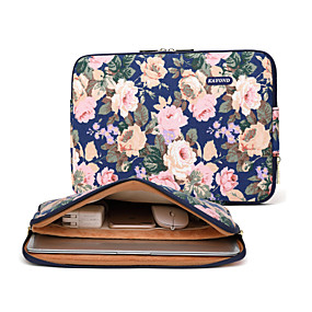 """preiswerte Laptop-Zubehör-13 """"Laptop / 14 """"Laptop / 15 """"Laptop Ärmel Segeltuch Blumenmuster Unisex Stossfest"""