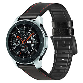 ieftine Curele Ceas pt Samsung-Uita-Band pentru Samsung Galaxy Watch 46 Samsung Galaxy Catarama Clasica Silicon / Piele Autentică Curea de Încheietură