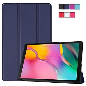 voordelige Galaxy Tab E 9.6 Hoesjes / covers-hoesje Voor Samsung Galaxy Tab S4 10.5 (2018) / Tab A2 10.5(2018) T595 T590 / Samsung Tab S5e T720 10.5 Schokbestendig / met standaard / Ultradun Volledig hoesje Effen Hard PU-nahka