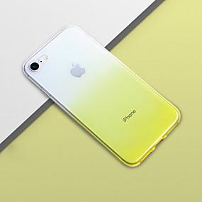 baratos Capinhas para iPhone-Capinha Para Apple iPhone XS Max / iPhone 6 Antichoque Capa traseira Cores Gradiente Macia TPU para iPhone XS / iPhone XR / iPhone XS Max