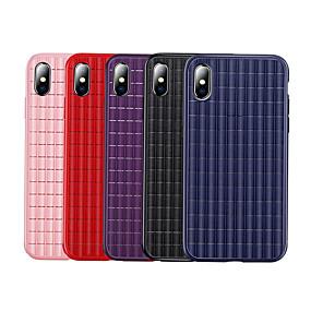 olcso iPhone tokok-Case Kompatibilitás Apple iPhone X / iPhone 8 / iPhone 8 Plus Ütésálló Fekete tok Egyszínű Puha TPU / Silica Gel mert iPhone XS / iPhone XR / iPhone XS Max