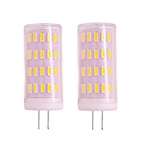 abordables Luces LED de Doble Pin-2pcs 4w g4 gu4 led luz de maíz regulable 12v 24v 400lm 63 led smd 3020 blanco cálido blanco para luces colgantes luces de porche luz de araña