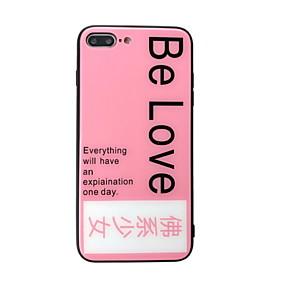 abordables Coques d'iPhone-Coque Pour Apple iPhone XS Max / iPhone 6 Miroir / Motif Coque Mot / Phrase Dur Verre Trempé pour iPhone XS / iPhone XR / iPhone XS Max