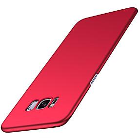 voordelige Galaxy S7 Edge Hoesjes / covers-hoesje voor Samsung Galaxy S8 / S8 plus ultradunne cover effen gekleurde harde pu leer voor s6 / s6 rand / s7 rand s7