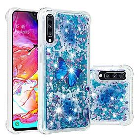 voordelige Galaxy A3(2016) Hoesjes / covers-hoesje Voor Samsung Galaxy A6 (2018) / A6+ (2018) / Galaxy A7(2018) Schokbestendig / Stromende vloeistof / Transparant Achterkant Vlinder / Glitterglans Zacht TPU