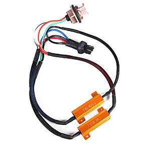 economico Kit di conversione HID-2pcs 50w 8ohm 7443 resistori di carico resistori a doppio resistore per lampadina& drl senza errori