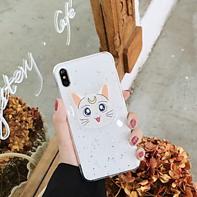 abordables Coques d'iPhone-Coque Pour Apple iPhone XS Max / iPhone 6 Motif / Brillant Coque Bande dessinée / Brillant Flexible TPU pour iPhone XS / iPhone XR / iPhone XS Max