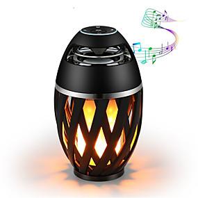 ieftine Lumini Nocturne LED-1pc bluetooth difuzor usb condus lumini de flacără în aer liber portabil condus flacără atmosferă lampă difuzor stereo în aer liber camping woofer mini