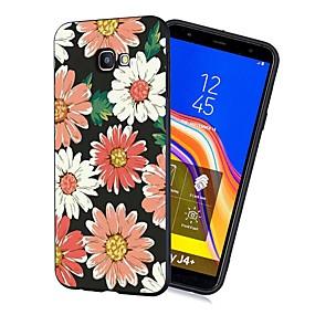 voordelige Galaxy J3 Hoesjes / covers-hoesje Voor Samsung Galaxy J7 (2017) / J6 (2018) / J5 (2017) Schokbestendig / Mat / Patroon Achterkant Bloem Zacht TPU