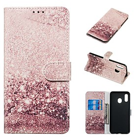 voordelige Galaxy A3(2016) Hoesjes / covers-koffer voor samsung galaxy a20e / a7 (2018) magnetisch / flip / met standaard bodyhoes marmer hard pu leer voor galaxy a9 (2018) / a10 / a30 / 20a / a40 / a70 / a9 2018 / a3 2016 / a5 2017 / a3 2017 /