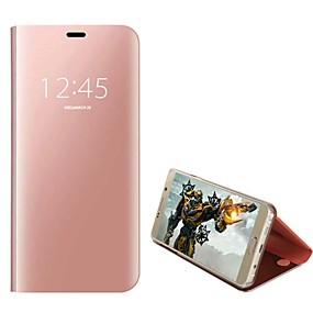 voordelige Galaxy S6 Edge Plus Hoesjes / covers-hoesje Voor Samsung Galaxy S9 / S9 Plus / S8 Plus Schokbestendig Volledig hoesje Effen Hard PU-nahka / PC