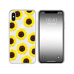 olcso iPhone tokok-tok iPhone xs max x xr 8 plusz hátsó tok lágy napraforgó virág átlátszó mobiltelefon tok vízálló anti-fall és karcolás puha tm iphone 7 plusz 7 6 plusz 6 5 se 5s 5 8