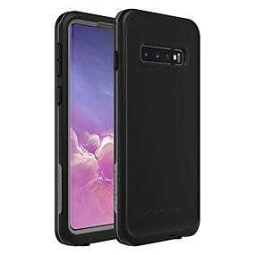 halpa Galaxy S -sarjan kotelot / kuoret-Etui Käyttötarkoitus Samsung Galaxy Galaxy S10 / Galaxy S10 Plus Vedenkestävä / Iskunkestävä / Pölynkestävä Takakuori Yhtenäinen Pehmeä TPU varten Galaxy S10 / Galaxy S10 Plus