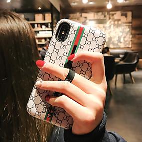 Недорогие Сортировать по модели телефона-чехол для яблока iphone xs / iphone xr / iphone xs max пыленепроницаемый / с подставкой / выкройкой задней линии / волны / мультфильм ПК