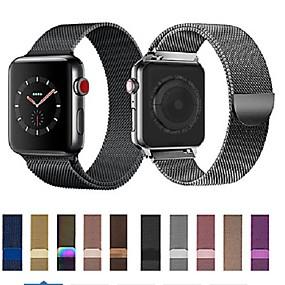 olcso Szűrés mobiltelefon modell szerint-Nézd Band mert Apple Watch sorozat 5/4/3/2/1 Apple Milánói hurok Rozsdamentes acél Csuklópánt