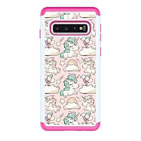 voordelige Galaxy S7 Hoesjes / covers-hoesje Voor Samsung Galaxy S9 / S9 Plus / S8 Plus Schokbestendig / Patroon Achterkant dier PU-nahka