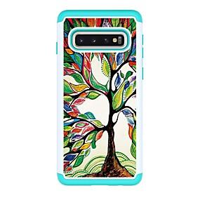 voordelige Galaxy S7 Hoesjes / covers-hoesje Voor Samsung Galaxy S9 / S9 Plus / S8 Plus Schokbestendig / Patroon Achterkant Boom PU-nahka
