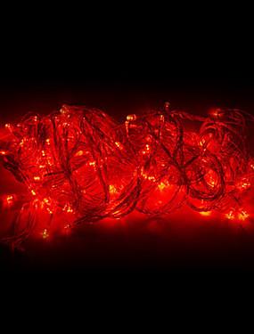 billige Hjem & Køkken-10m streng lys 100 led rød 220v julepynt lampe streng