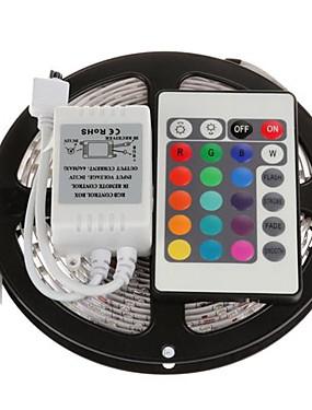 ราคาถูก ไฟเส้น LED-5 เมตร 300x5050 smd rgb นำแถบแสงที่มี 24key ควบคุมระยะไกล (dc12v)