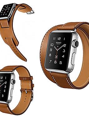 levne Prémiové značky-Watch kapela pro Apple Watch Series 3 / 2 / 1 Apple Klasická spona Pravá kůže Poutko na zápěstí