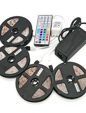 ราคาถูก ไฟเส้น LED-Zdm 20 เมตร (4 * 5 เมตร) กันน้ำ 96 วัตต์ 1200 leds 2835 rgb แถบแสงที่มีความยืดหยุ่น 44key ir ควบคุมระยะไกล 8a แหล่งจ่ายไฟ ac110-240v