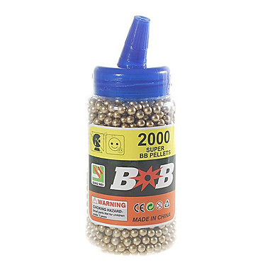 6mm bb goud plastic kogels (2000-pack)