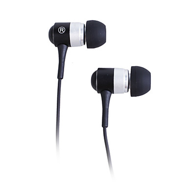Stylish Stereo Earphones (Black/Silver)