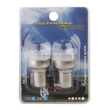 12v 12-ledede hvide lys bil bremse signal lyspærer (2-pack)