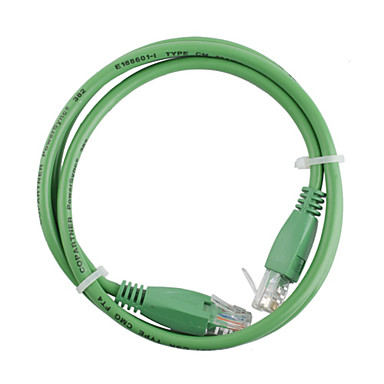 RJ-45 4 Pair Stranded Network Cable Green 1m
