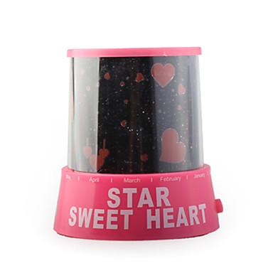 romantique coeurs doux et amoureux de projecteur lumière nuit chambre (110-240v/3xaa)
