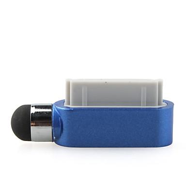 pantalla táctil pluma lápiz táctil para IPAD y el iPhone con el anti-polvo tapón (azul)