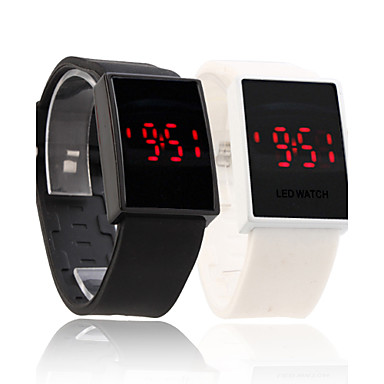Silicone Band Couple Sports Style Red LED Wrist Watch Cool Watches Unique Watches