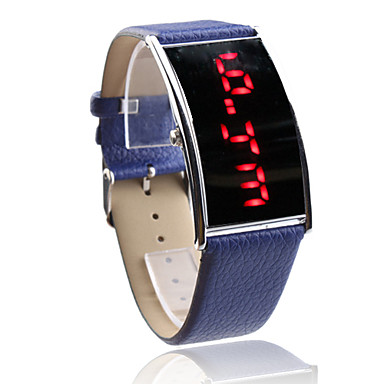 élégante bande PU conduit montre-bracelet pour les femmes (en bleu)