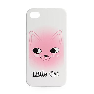 prime unique étui rigide arrière de protection pour iPhone 4 - petit chat (blanc)