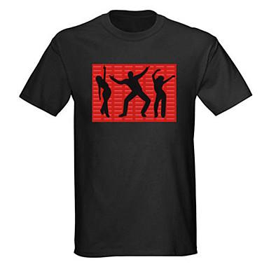 소리와 음악을 활성화 엘 비주얼 VU 스펙트럼 댄서 주도 티셔츠 (2 * AAA)
