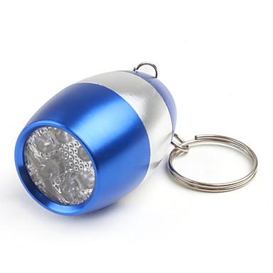 6 LED viinipullo avaimenperä taskulamppu 2xcr2032 sininen